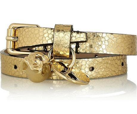 Alexander-McQueen-metallic-cracked-leather-skull-bracelet-1